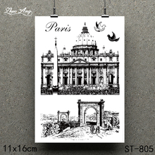 ZhuoAng Solemn church design clear stamp / scrapbook rubber craft card seamless