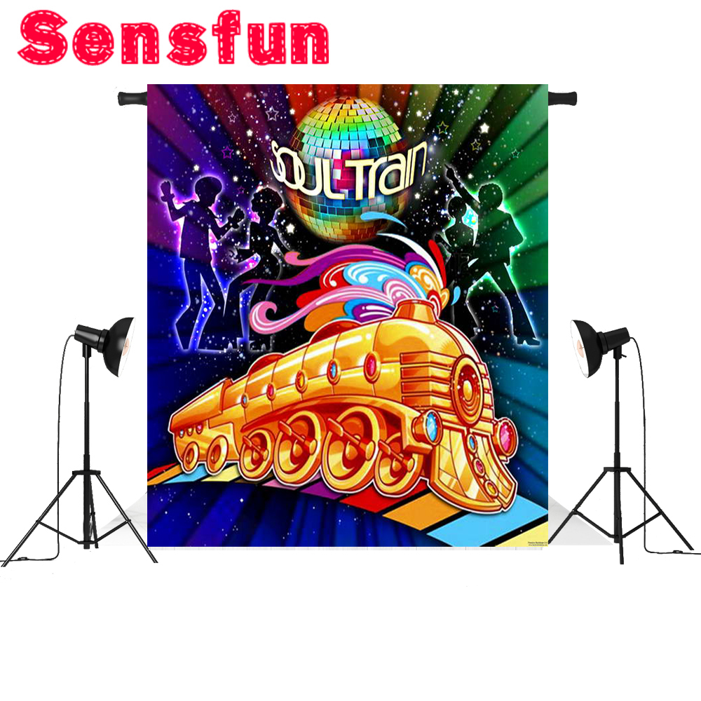 Vinyl Club Dancer Music Wall Stripes Soul Train Custom Photo Studio Backgrounds Backdrops 8x8ft image