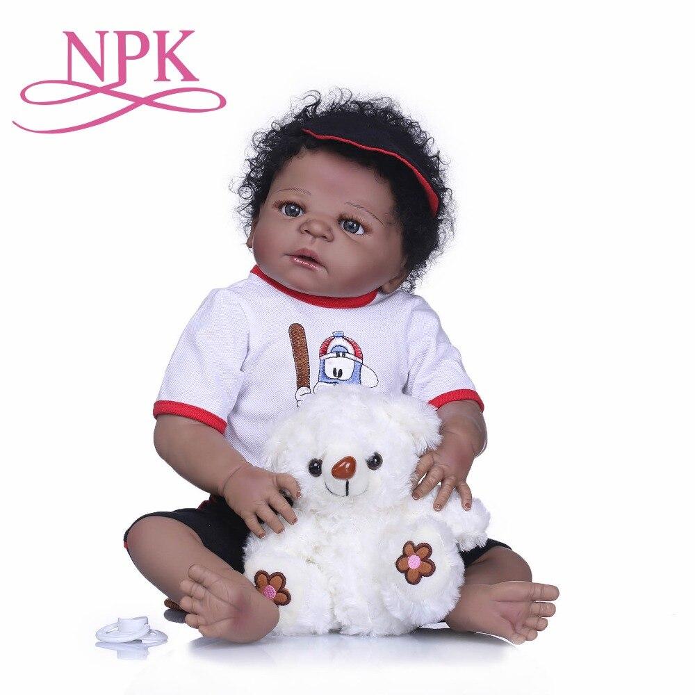 NPK Bebe Reborn Dolls Realistica Del Silicone Pieno Baby Boy Doll In Carino Stile di Capelli Reborn Alive Bambole Del Bambino Ragazze Compagno di Giochi giocattoli