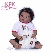NPK Bebes تولد من جديد دمى واقعية كاملة سيليكون الطفل دمية الاطفال في نمط الشعر لطيف تولد من جديد على قيد الحياة دمى طفل الفتيات اللعب اللعب