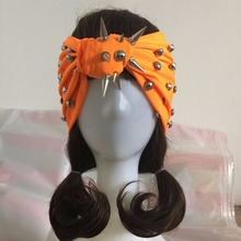 Custom Made Woman Punk Rivet Headbands Girl Night Club Fashion Spike Hair Band Female Stud Bandanas Hair Accessory Hand Made