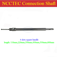 [4 slots square handle] 350mm 14'' long NCCTEC connection rod NCP3504S for wall core drill bits   FREE shipping with FREE gift