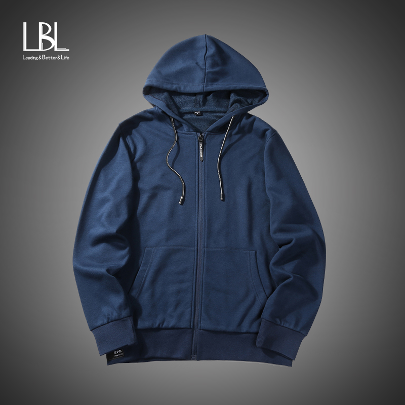 Men Cotton Hooded Zipper Jacket Menswear Casual Hoodies Coat Homme 2018 New Fashion Autumn Outerwear Brand Hoodies &Sweatshirts