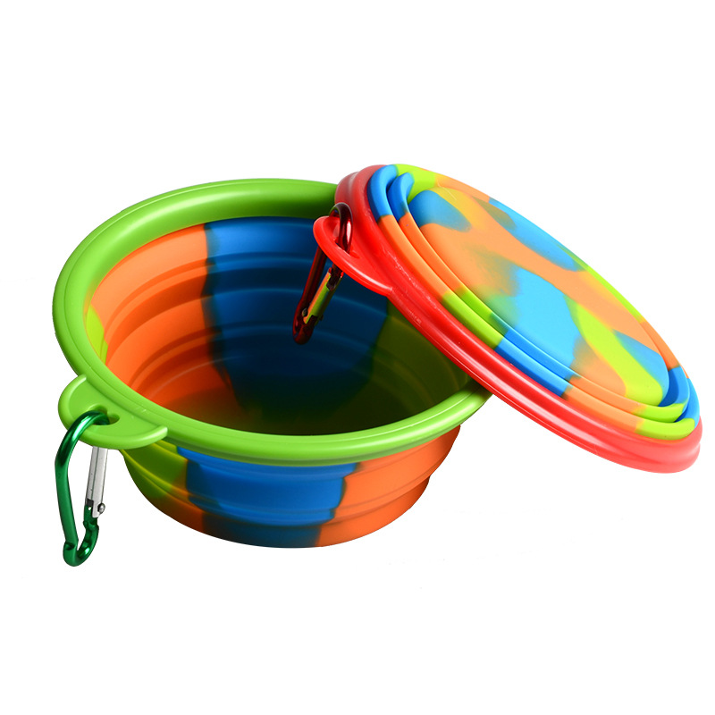 1pcs Folding Dog Bowl Outfit Portable Travel Bowl Dog Feeder Water Food Container Silicone Small Mudium Dog Pet Accessories