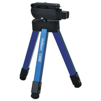 Free Shipping!Velbon CUBE - 8 Section Compact Folding Travel Tripod For DSLR / Compact Camera,EU tariff-free free shipping velbon ex 440 blue camera photo tripod w panhead 1534mm load 2kg