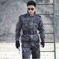 Al aire libre táctico Militar Del Ejército uniforme de combate Negro traje pantalón chaqueta Al Aire Libre Deporte MilitaryTraining Plus Size4xl Envío Gratis