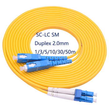 LC-SC fiber patch cord duplex single mode 2.0mm G652D jacket cable 1 2 3 4 5 Mtr optical fibre jumper