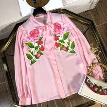 WB07163     Fashion women's Blouses & Shirts 2018 Runway Luxury Brand European Design party style women's Clothing
