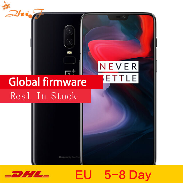 Original <font><b>OnePlus</b></font> <font><b>6</b></font> GB 64GB Snapdragon 845 Octa Core AI Dual Camera 20MP+16MP Face Unlock Android 8 <font><b>Smartphone</b></font> Mobile phone image