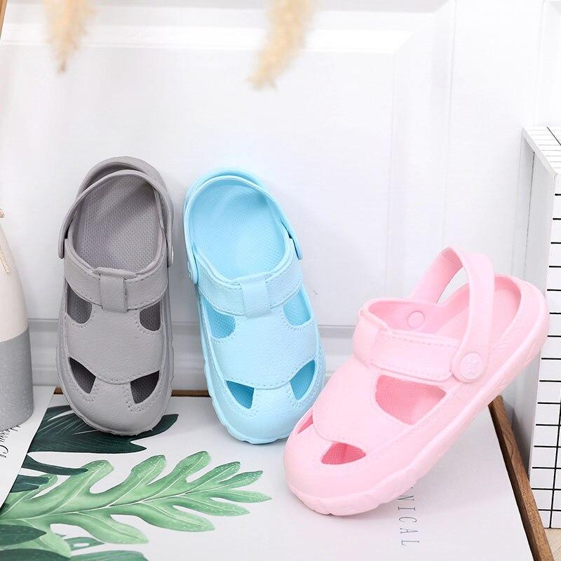New Kids Baby Girls Boy Toddler Sandals Beach Slippers Clogs Pumps Cartoon Shoes