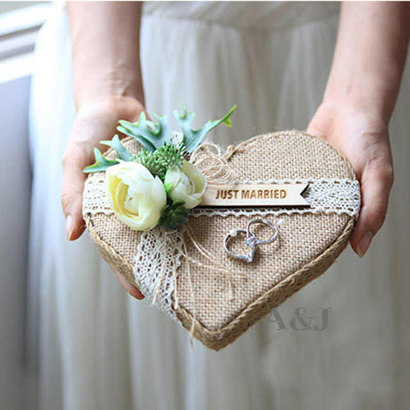 Free Shipping 1pcs lot Custom name Ring Cushion Marriage decoration Engagement Bearer pillows Wedding proposal Ideas ring pillow