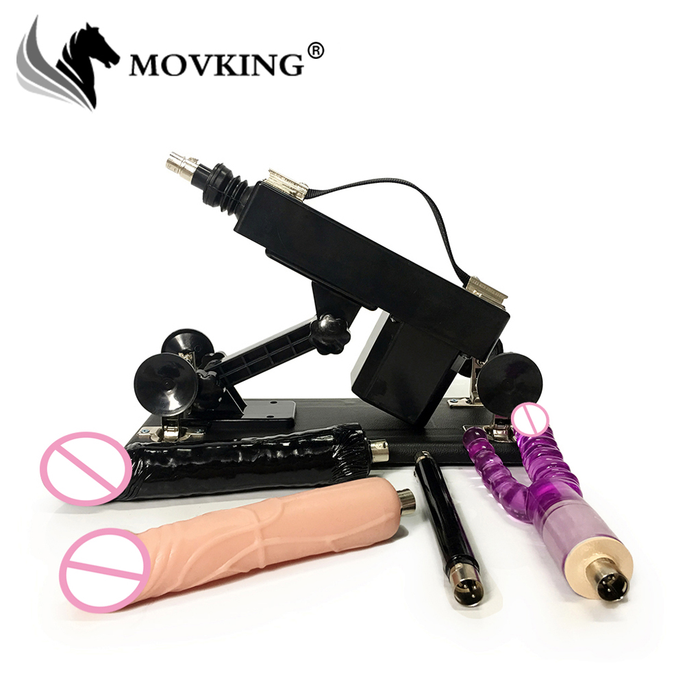 MOVKING Sex Machine for Women Adjustable Speed Pumping Gun with Double Dildo Updated Version Automatic Female Love Machines automatic retractable sex machine for women adjustable speed pumping gun with huge dildo updated version female love machine