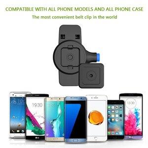 Image 5 - 전화 벨트 클립, iphone X,8,8 Plus 7 및 삼성 Galaxy Note 8,S8 또는 모든 휴대 전화 용 퀵 마운트가있는 범용 홀더