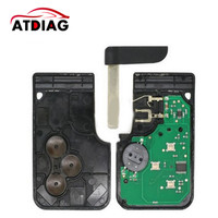 Free Shipping Renault Megane 3 Button Remote Card Key The Button Is Crystal PCF7947 Chip With