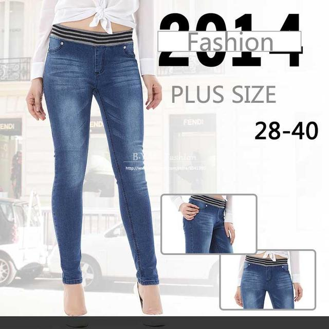 Aliexpress.com : Buy Plus Size 28 40 High waist Women jeans ...