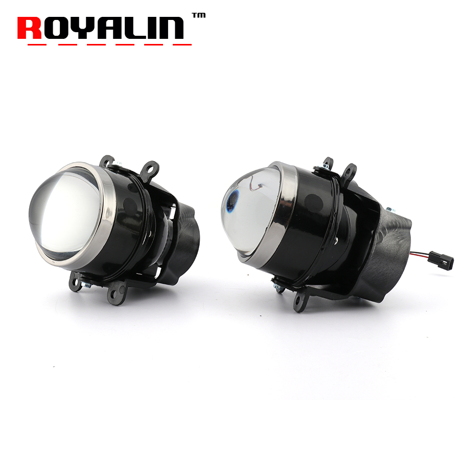 ROYALIN Car Fog Lights Bi Xenon Lens H11 D2S D2H Projector for Ford Mazada Mitsubishi Pajero
