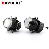 ROYALIN Fog Lens Bi Xenon Projector Light For Ford Mazada Mitsubishi Pajero Subaru Citroen Dacia Renault