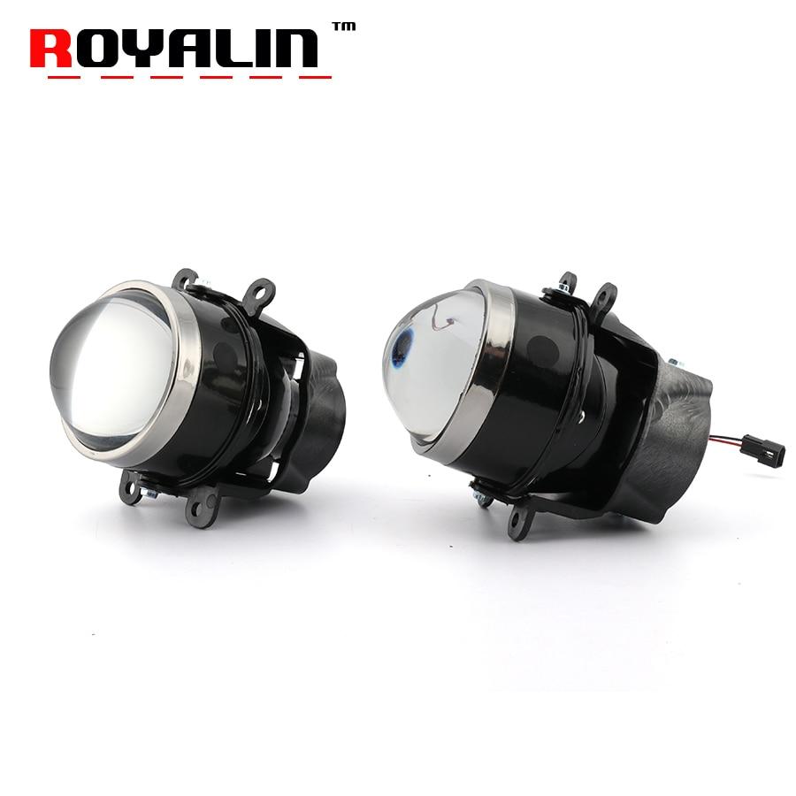 ROYALIN coche luces de niebla Bi xenón lente H11 D2S D2H proyector para Ford Mazada Mitsubishi Pajero Subaru Citroen Dacia Renault nissan