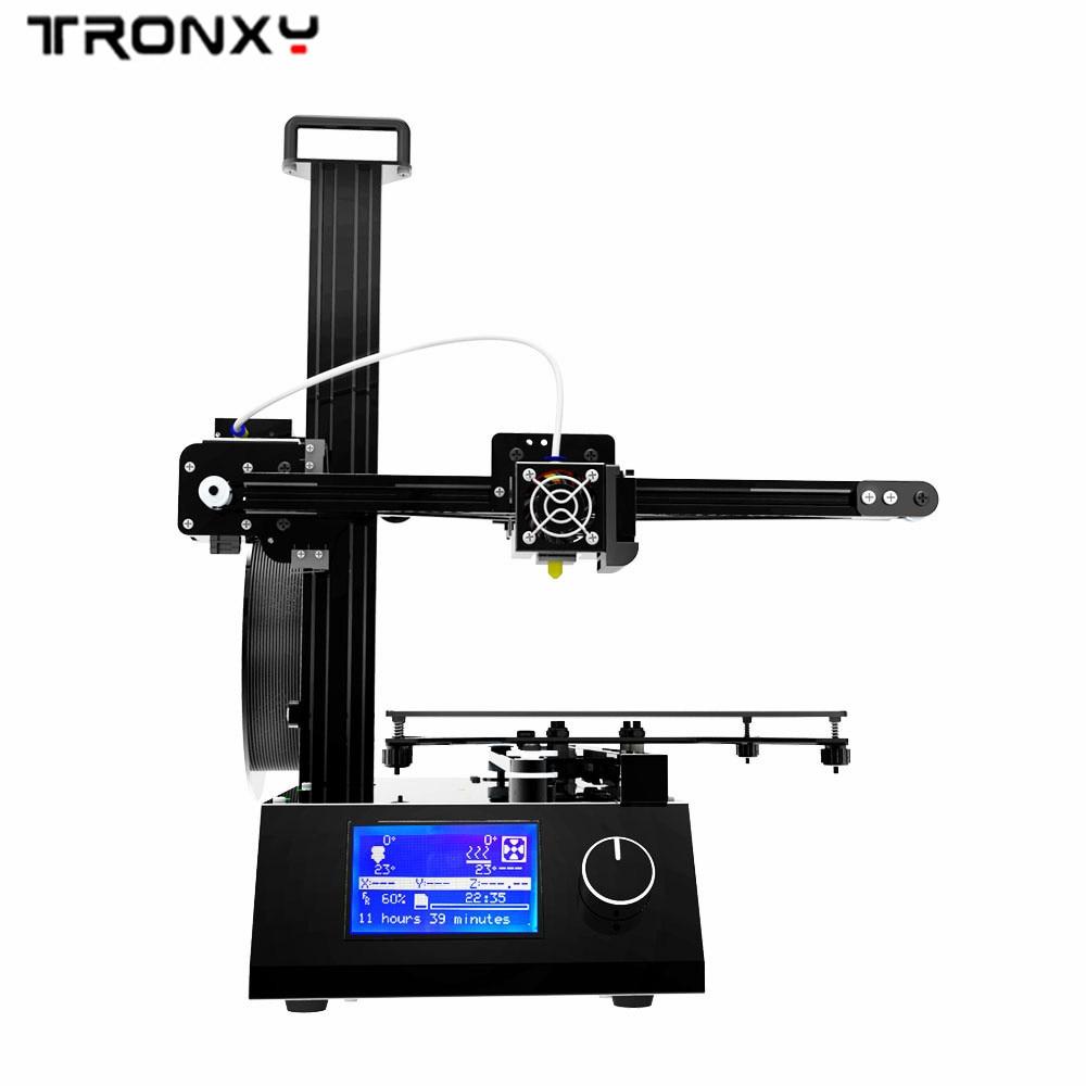 2019 Tronxy X2 3D imprimante version améliorée Aluminium entier et matel avec lit de chaleur impression ABS PLA Filament 220x220x220mm