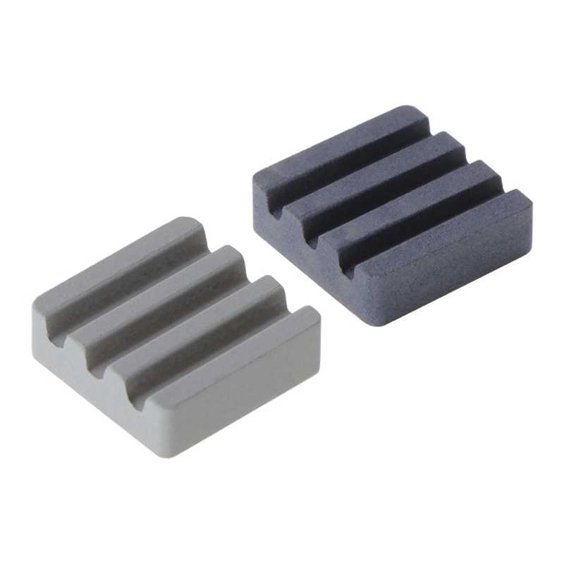 2PCS Silicon carbide Ceramic Heat Sinks CPU Cooling dissipador for Raspberry Pi3
