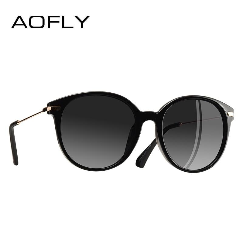 AOFLY Mode Dame sonnenbrille Neue Polarisierte Frauen Sonnenbrille Vintage Legierung Rahmen Klassische Marke Designer Shades Oculos AF7913