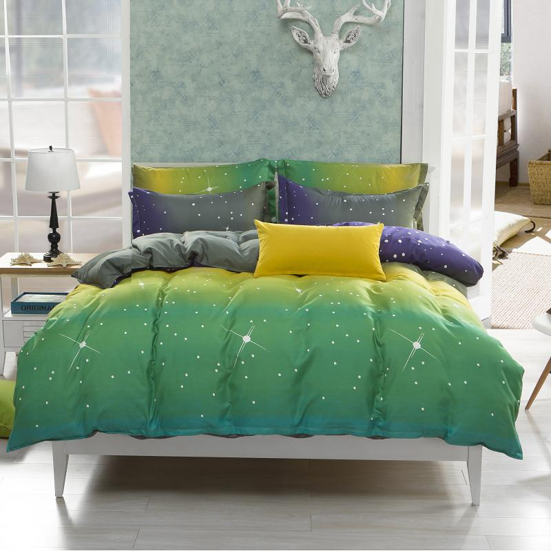 All Rights Reserved Hot Sale Starry Sky Bedsheet Set Home Printed