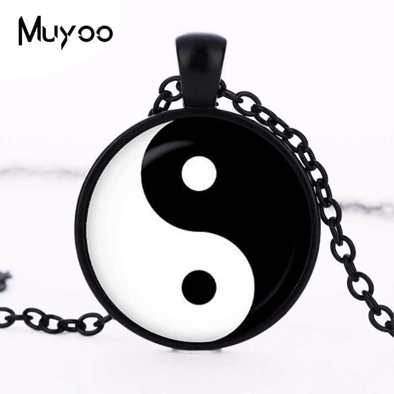 2017 new hot Vintage Yin Yang Pendant Necklace Tattoo Choker Necklace Handmade Silver Chain Yin Yang Jewelry Fashion brand HZ1