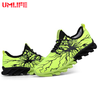 UMLIFE Men's Non Slip Outdoor Running Shoes For Men Hard Wearing Rubber Sport Shoes Shock Absorption Male Shoes Sports Comfort