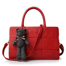 2016 Hot Sale Womens Famous Brand Designer Leather Handbags Women Fashion Plaid Shoulder Bag Ladies Red Business Work Tote Bags