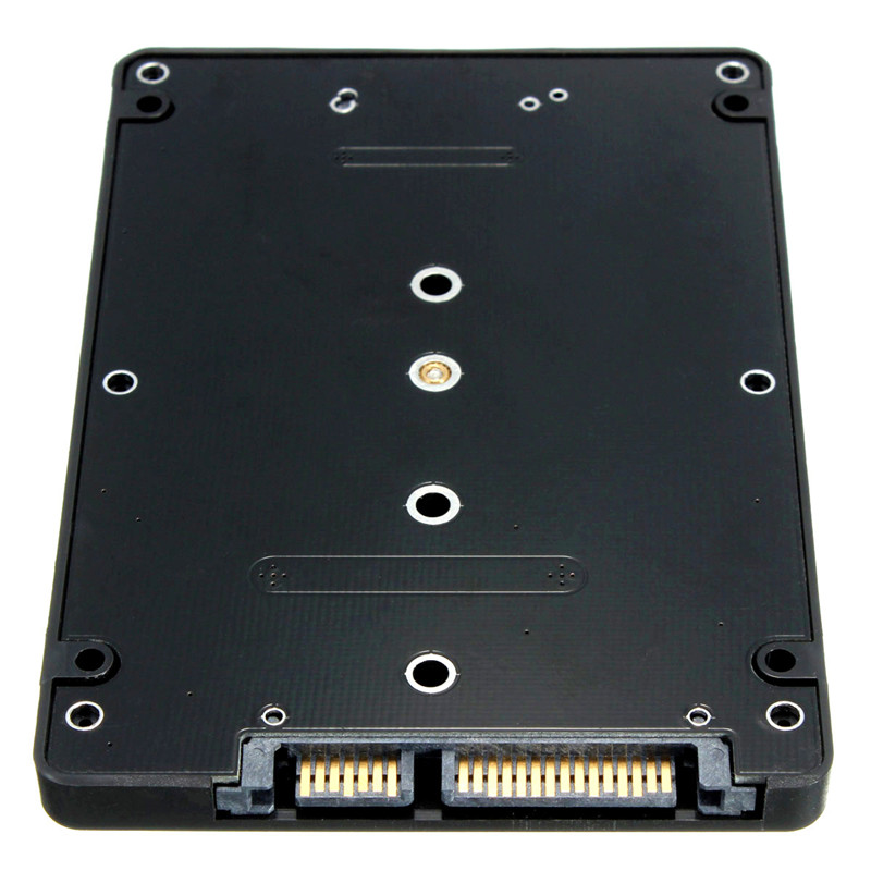 Newest B key socket 2 M.2 NGFF (SATA) SSD to 2.5 SATA Adapter Card With Case Hight Quality