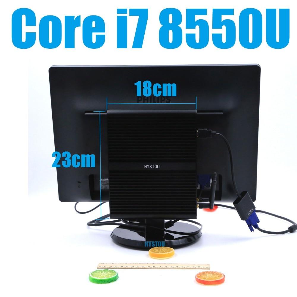 Hystou Core I7 8550u Fanless Mini Computer Windows 10 Pro License Win10 Minipc No Fan Intel Uhd Graphics 4k Tv Box Nettop Minipc