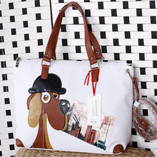 40x29CM Italian 2016  Summer New Winter Fashion Pet Dog Large-capacity Shoulder Female Bag Splicing Process A2641~3