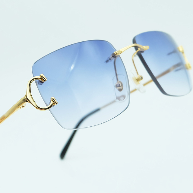e9f44a7621f Luxury Square Sun Glasses High Quality Men Sunglasses Women Beauty Blue Lens  Popular Party Eyewear Driving Carter Shade Sunglass