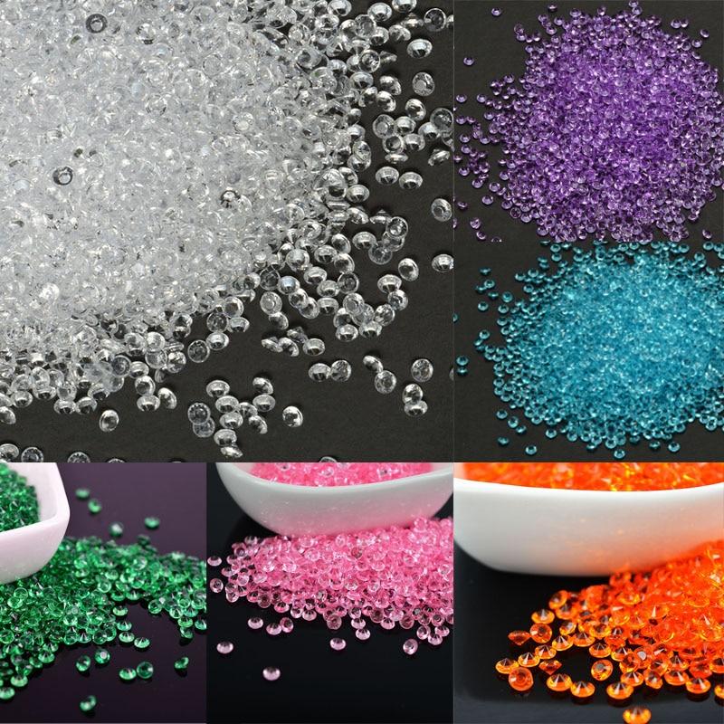 2000 pcs Glass Cabochon Confetti Crystals Diamond Decor Wedding 4mm Table Confetti Celeb ...