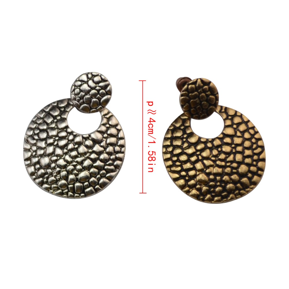 288fd6ef1 Aliexpress.com : Buy Turkish Ethnic Retro Antique Golden Silver Metal Round  Circle Stud Earrings For Women Lady Gifts Gypsy Ears Jewelry from Reliable  ...