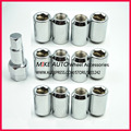 12Nuts+1Key M12X1.25 Open End Carbon Steel Racing Wheel Tuner Lug Nut Security Lock For Car Wheel