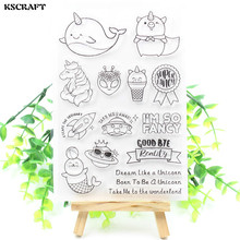 KSCRAFT I'M So Fancy Transparent Clear Silicone Stamp/Seal for DIY scrapbooking/photo album Decorative clear stamp sheets