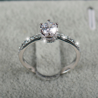 High Quality 2018 NEW design Fashion Jewelry Luxury Women Engagement ring  925 sterling Silver 5A Zircon Wedding crown Rings 5c046337f1df