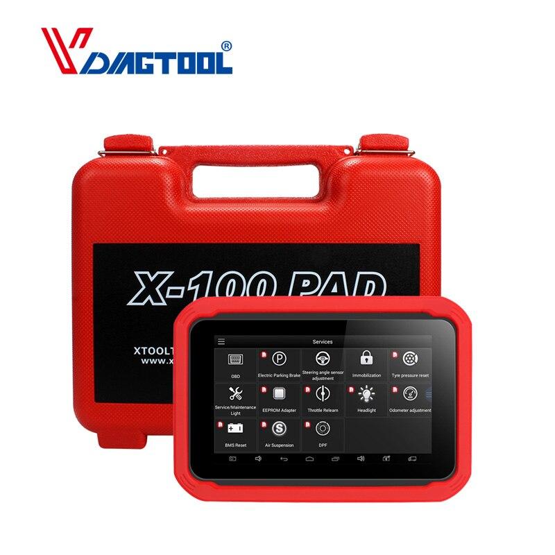 Originale XTOOL X100 PAD Auto Professionale Programmatore Chiave di Regolazione del Contachilometri Reset Olio X100 Pad Aggiornamento Gratuito 2 Anni
