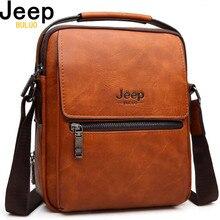 Large Capacity Man's Shoulder Bags JEEP Brand Man Split Leather Crossbody Messen