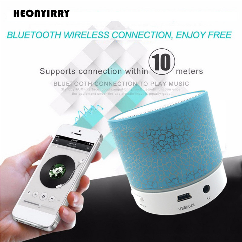 Mini Bluetooth Speaker Wireless LED Dancing Music Audio Speaker Support TF Card Stereo Sound FM Radio Speakers For Ihone Xiaomi getihu portable mini bluetooth speakers wireless hands free led speaker tf usb fm sound music for iphone x samsung mobile phone