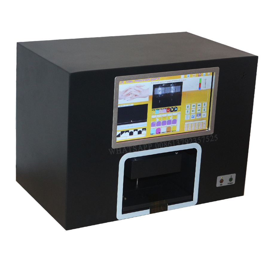 Digital nail printer machine with computer inside software inside nail printing image