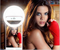 2016 Новое прибытие роскошные Selfie Портативный Кольцо LED Заполняющий Свет Камера Аккумуляторная RK12 USB Заряда с батареей Для iphone samsung