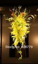 Latest Style Luxury Modern Yellow Murano Hand Blown Glass Chandelier