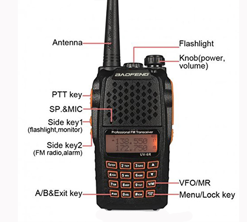 2pcs 10 KM hunting radios Communicator 7w powerful walkie talkies with 136 174MHz / 400 520MHz baofeng uv 6r professional handy-in Walkie Talkie from Cellphones & Telecommunications    2