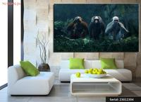 Monkeys Painting Art Animal Classical Oil Painting Drawing Art Spray Unframed Canvas Landscape Picture Waterproof Wine23012304