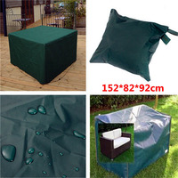 New Arrival 152x82x92cm Woven Polyethylene Outdoor Furniture Cover Garden Patio Coffee Table Chair Waterproof