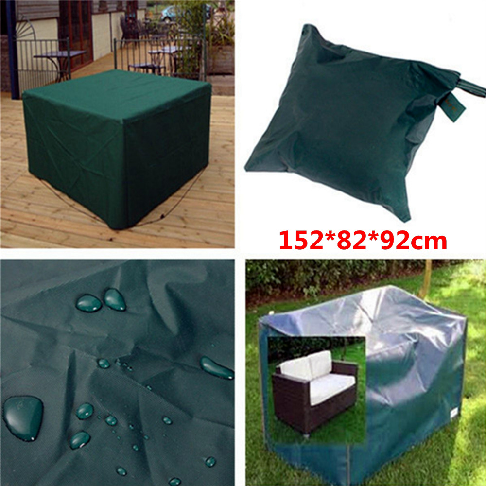 New Arrival 152x82x92cm Woven Polyethylene Outdoor Furniture Cover Garden Patio Coffee Table Chair Waterproof abba patio outdoor porch rectangular table and chair set cover water proof all weather protection tan 108 l x 82 w x 36 h