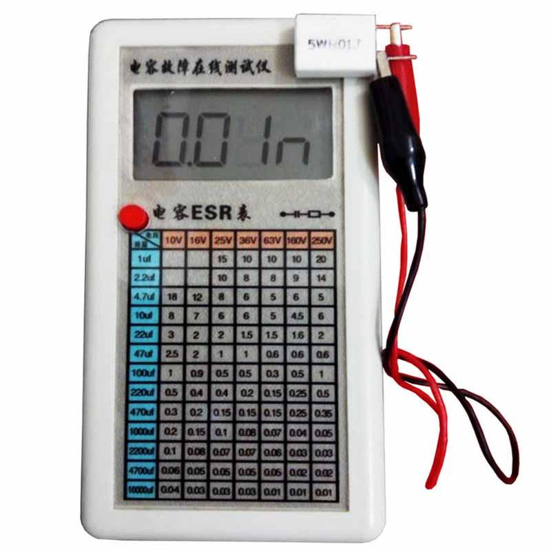 LCD Digital Capacitor ESR Tester Internal Resistance Meter Test In Circuit