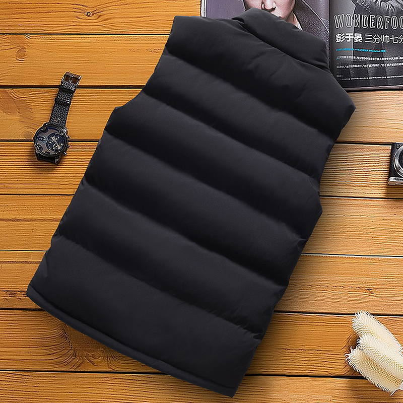 classic light men vest down korean streetwear clothing casual travel jackets male cloth vintage winter warm coat vests for men (10)